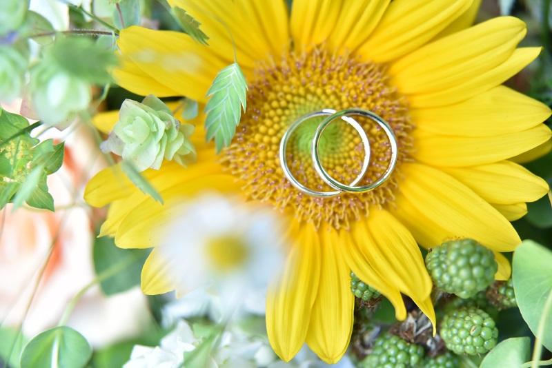 ひまわり指輪
